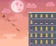 Игры на Новый год:Санта прыгает по крышам