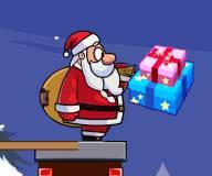 Игры на Новый год:Санта разносит подарки по домам