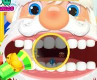 Игры на Новый год:Лечить зубы Санте