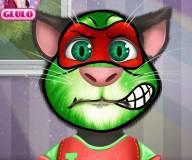 Говорящий кот:Татуировка на лице кота Тома