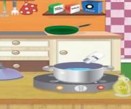 Игры Даша путешественница:Беременная Даша готовит куриные крылышки