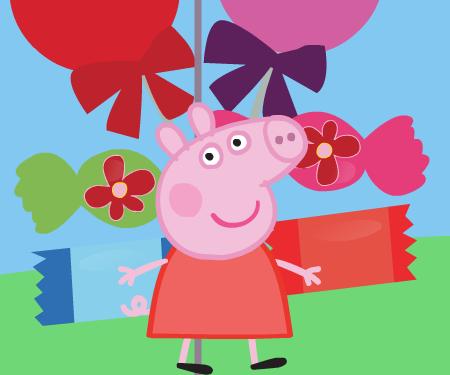 Свинка пеппа из конфет
