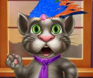 Говорящий кот:Стрижка для Тома и Анжелы