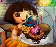 Игры Даша путешественница:Кексы на Хеллоуин