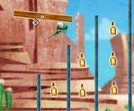 Игры для мальчиков:Стреляй ящерицей из пушки