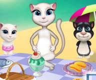 Говорящий кот:Анжела на пикнике