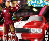 Железный человек:Железный человек на машине